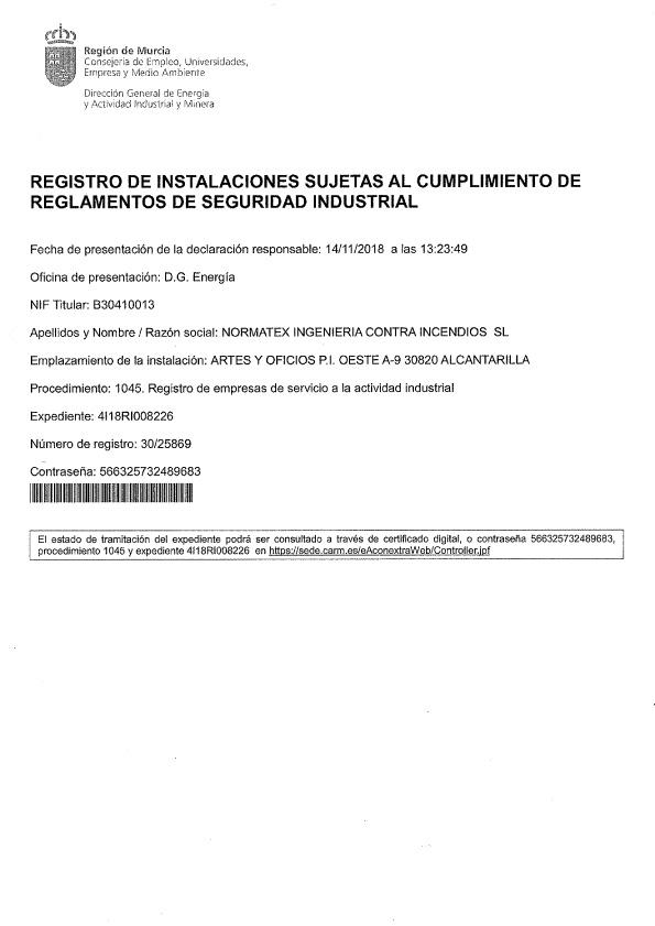 Certificado instalador mantenedor (PDF)
