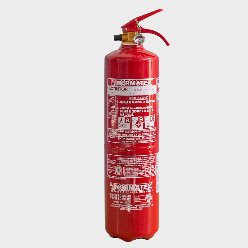 Extintor de polvo ABC de 3 kg