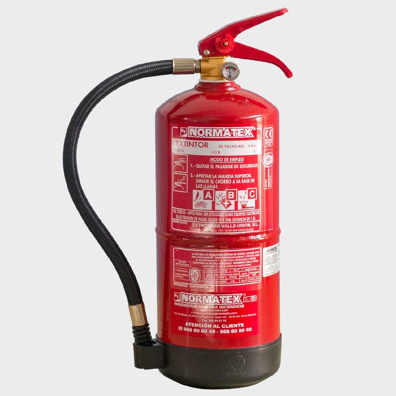 Extintor de polvo ABC de 4 kg