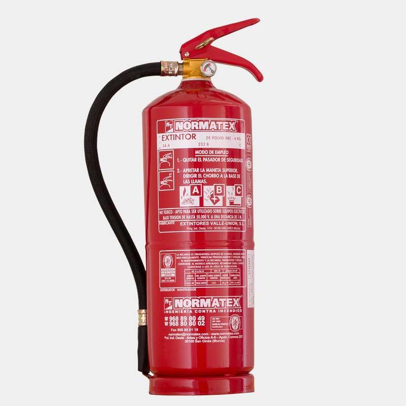 Extintor de polvo ABC de 6 kg de alta eficacia