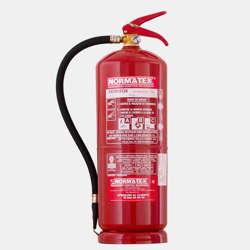 Extintor de polvo ABC de 9 kg de alta eficacia