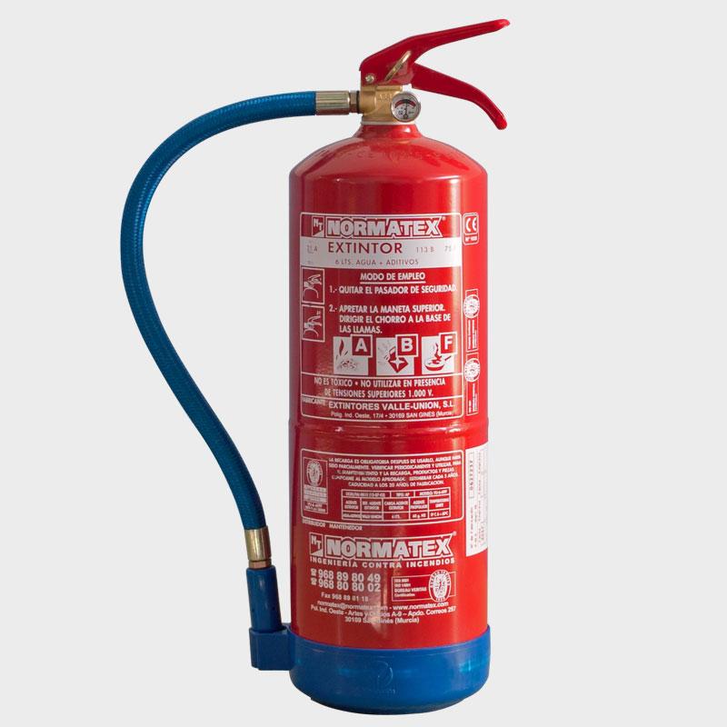 Extintor de agua de 6 litros