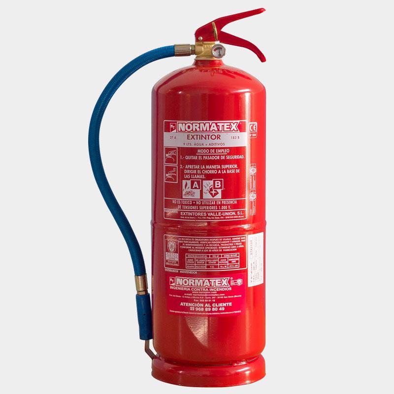 Extintor de agua de 9 litros