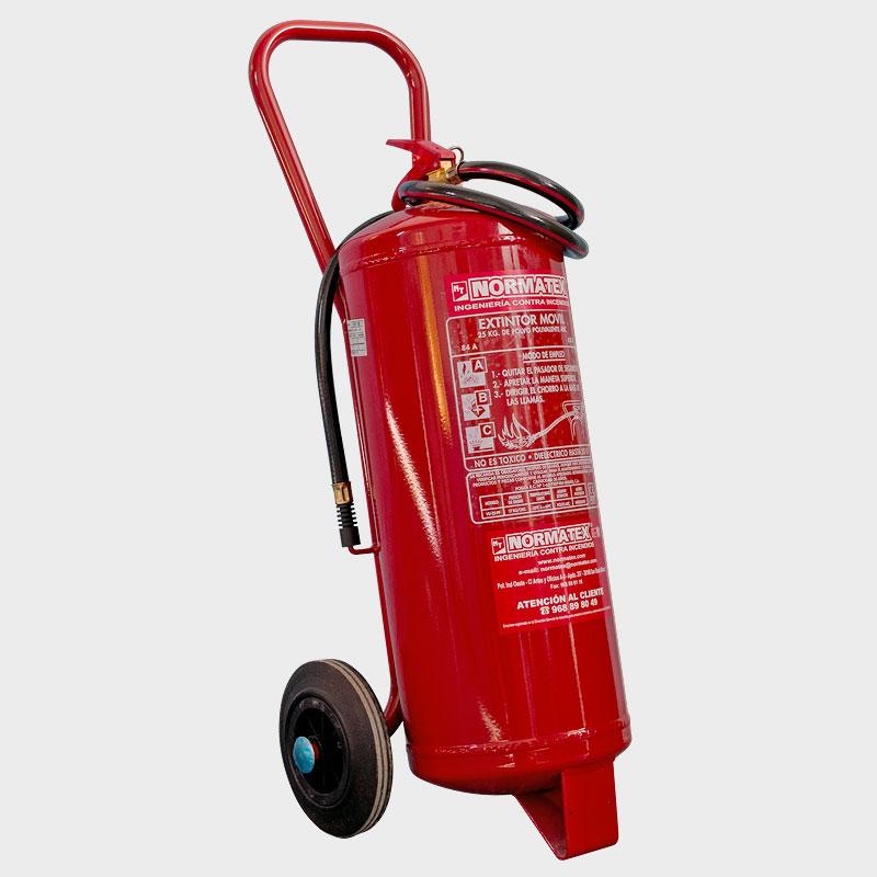Extintor de polvo ABC de 25 kg