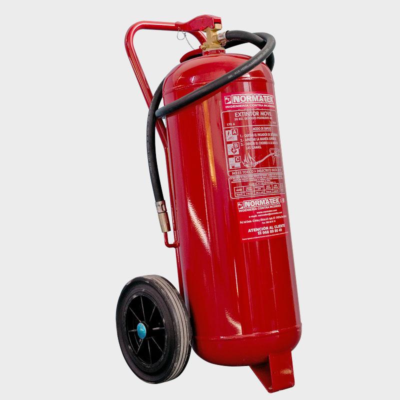 Extintor de polvo ABC de 50 kg