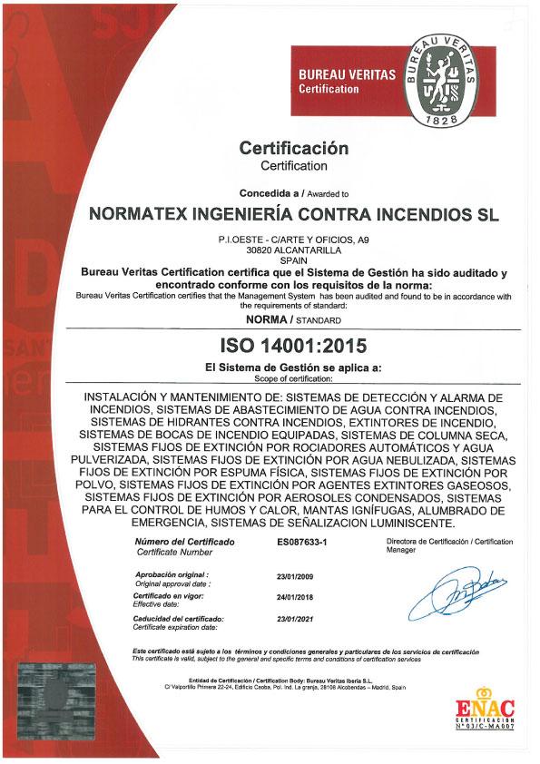 Certificación ISO 14001 (PDF)