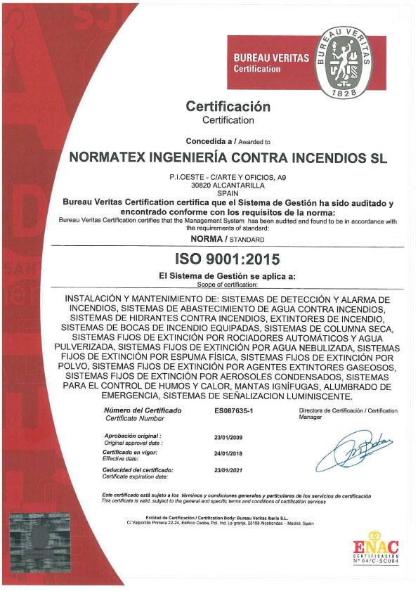 Certificación ISO 9001 (PDF)